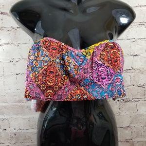 Gianni Bini Gypsie D-Cup Flouncy Bikini Top